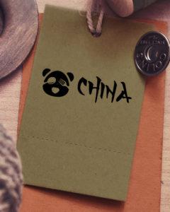 etiqueta stand China