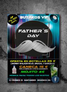 cartel fiesta día del padre